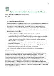 Neuvottelukunnan toimintakertomus 2009 (pdf) - Opetusministeriö