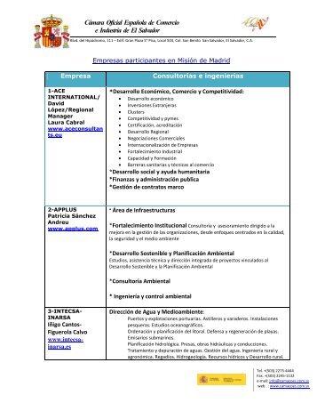 Cámara Oficial Española de Comercio e Industria de El Salvador