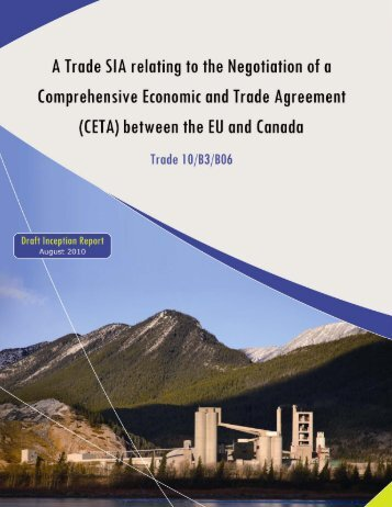 Draft Inception Report: August 2010 1 - CERT - Canada Europe ...