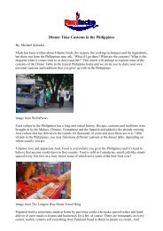 Dinner Time Customs in the Philippines - Philippine Culture ...
