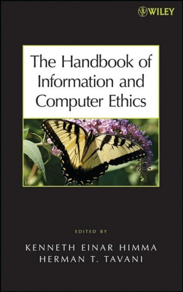 Handbook of Information and Computer Ethics - University of the ...