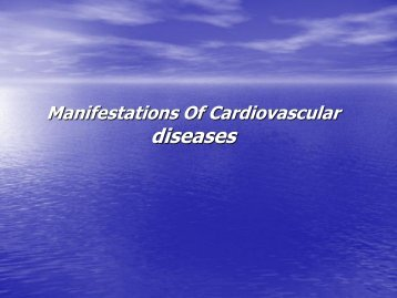 Manifestations Of Cardiovascular