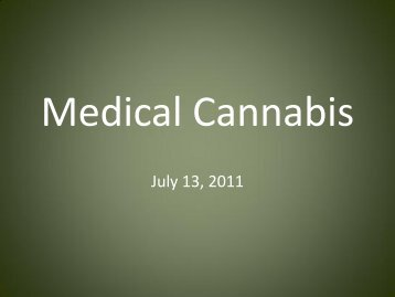 Medical Cannabis Options HHS