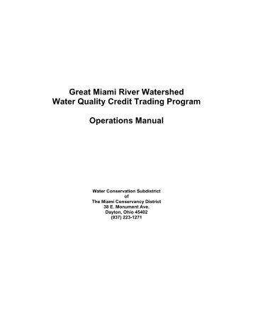 Great Miami River Watershed Water Quality Credit Trading Program ...