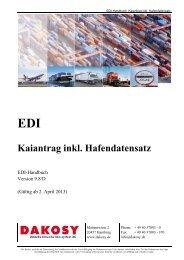 Kaiantrag inkl. Hafendatensatz - DAKOSY ...