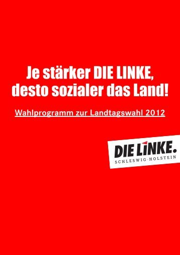 Je stärker DIE LINKE, desto sozialer das Land!