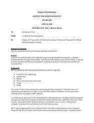 request for proposals architect and landscape architect rfp - Boulder ...