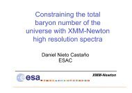 Constraining the total baryon number of the universe with XMM ...
