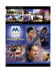 Plans for FY2007-08 - Maricopa Community Colleges