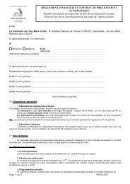 Contrat prelev auto 2011 - Cinq-Mars-la-Pile