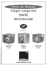 Clapet coupe-feu ISONE® rectangulaire - Aldes