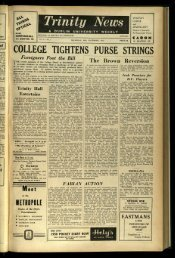 COLLEGE TIGHTENSPURSE STRINGS i --- - Trinity News Archive