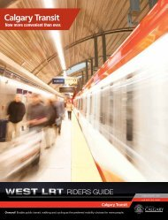 West LRT Riders Guide - Calgary Transit