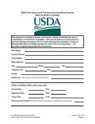 USDA Good Agricultural Practices Good Handling Practices Audit ...