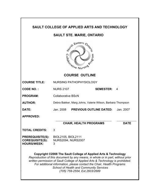 Nurs2107 Nursing Pathophysiology W08 Pdf Sault College