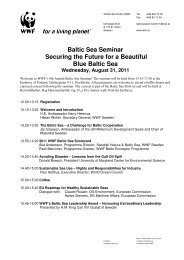 Baltic Sea Seminar Securing the Future for a Beautiful Blue Baltic Sea