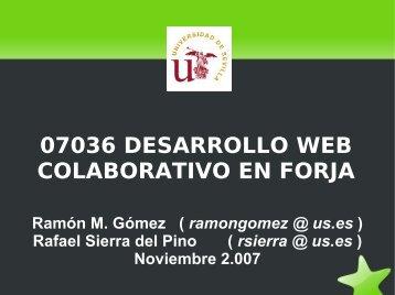 Desarrollo Web Colaboratio en Forja - forja de RedIRIS