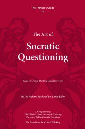 Socratic Questioning - The Critical Thinking Community