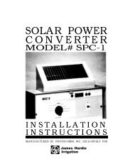 Irritrol SPC-1 Solar Power Converter Owner's Manual - Irrigation Direct