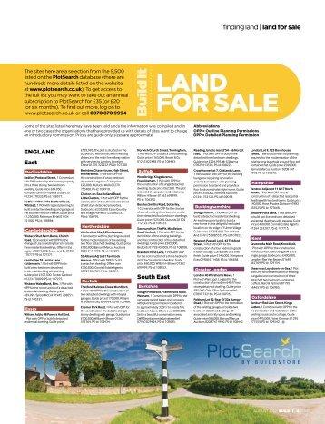 LAND FOR SALE - Build It