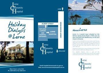 Holiday Dialysis Brochure