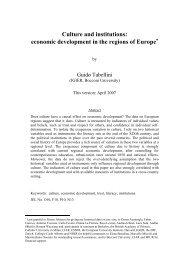 economic development in the regions of Europe - UCLA ...