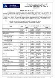 pró-reitoria de graduação - prg 1 processo seletivo de 2013 ...
