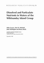 Dissolved and Particulate Nutrients in Waters of the Whitsunday ...