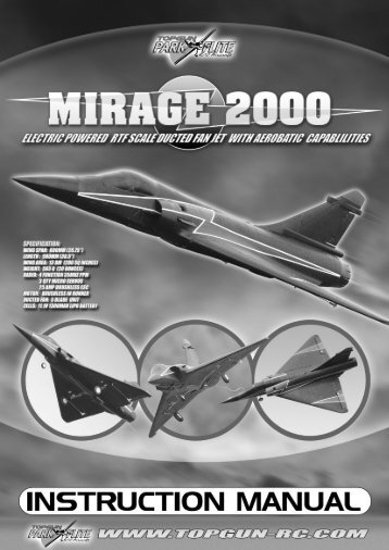 Mirage 2000 RTF Model INSTRUCTION MANUAL - CML Distribution