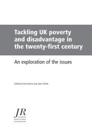 Tackling UK poverty and disadvantage in the twenty-first century