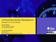 Neue Aspekte und Visionen im Identity Management - usp MarCom