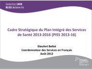 Le RLISS du Centre-Est - Central East Local Health Integration ...