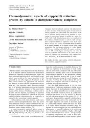 Thermodynamical aspects of copper(II) reduction process by cobalt ...
