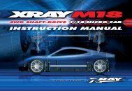 XRAY M18 Instruction Manual (pdf) - English