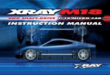 XRAY M18 Instruction Manual (pdf) - English