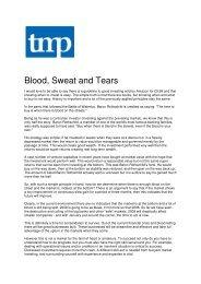Blood, Sweat and Tears - Turnaround Management Association (UK)