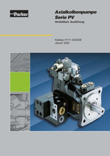 Axialkolbenpumpe Serie PV - Reischel Hydraulik GmbH