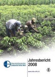 Jahresbericht 2008 - Solidarität Dritte Welt