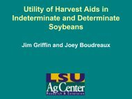 Utility of Harvest Aids in Indeterminate and Determinate Soybeans