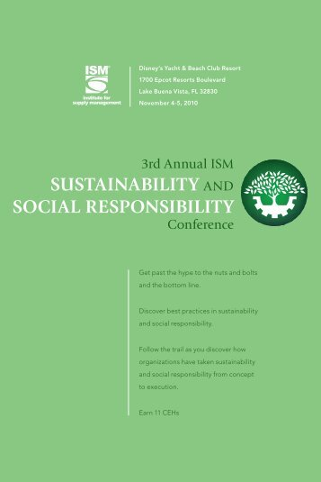 2010 SSR Conference Brochure - Institute for Supply Management