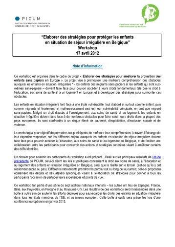 """""""Elaborer des stratégies pour protéger les enfants en ... - PICUM"""