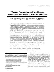 Effect of occupation and smoking on respiratory symptoms in ...