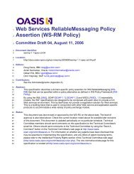 WS-RM Policy - docs oasis open - Oasis