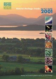 Scottish Natural Heritage Trends Scotland 2001