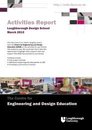 Activities Report - Centre for Engineering and Design Education