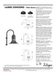 N5610421C Large Concord Spec Sheet.indd - Phoenix Products