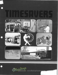 Timesavers Brochure - Sterling Machinery