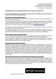 FAQ Wahlverfahren der Schweizer Filmakademie – Schweizer ...