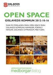 Open Space 2012-10-16 - Gislaveds kommun