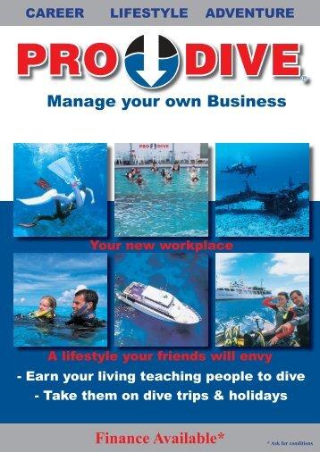 Franchise Brochure.indd - Online Scuba Diving Booking System
